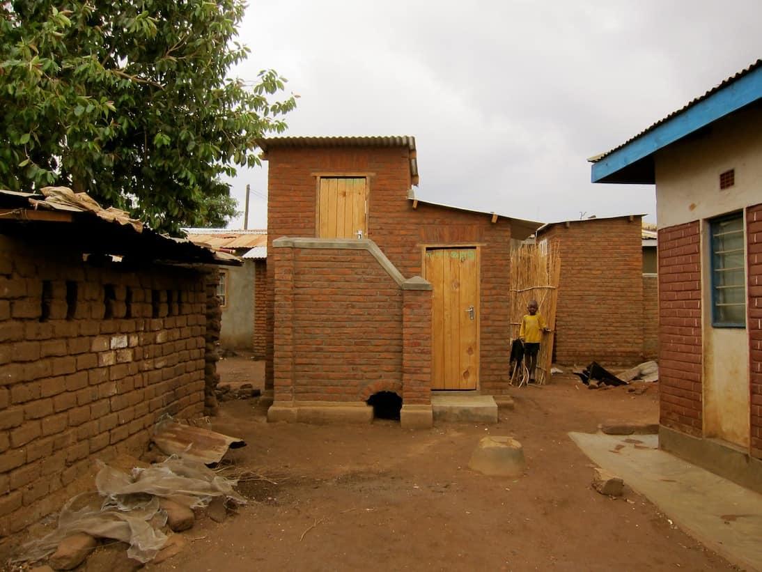 Ecosan toilet in Mtandire settlement