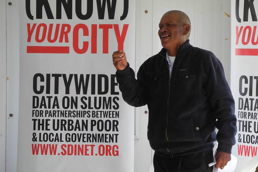 Patrick speaks in Khayelitsha, Cape Town
