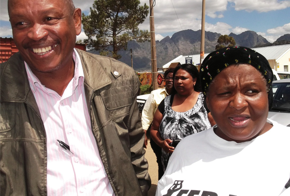 Patrick with Evelyn Benekane (Eastern Cape Co-ordinator for ISN and FEDUP)