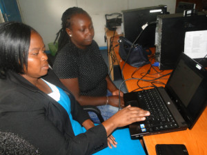 Capturing slum profiling data.